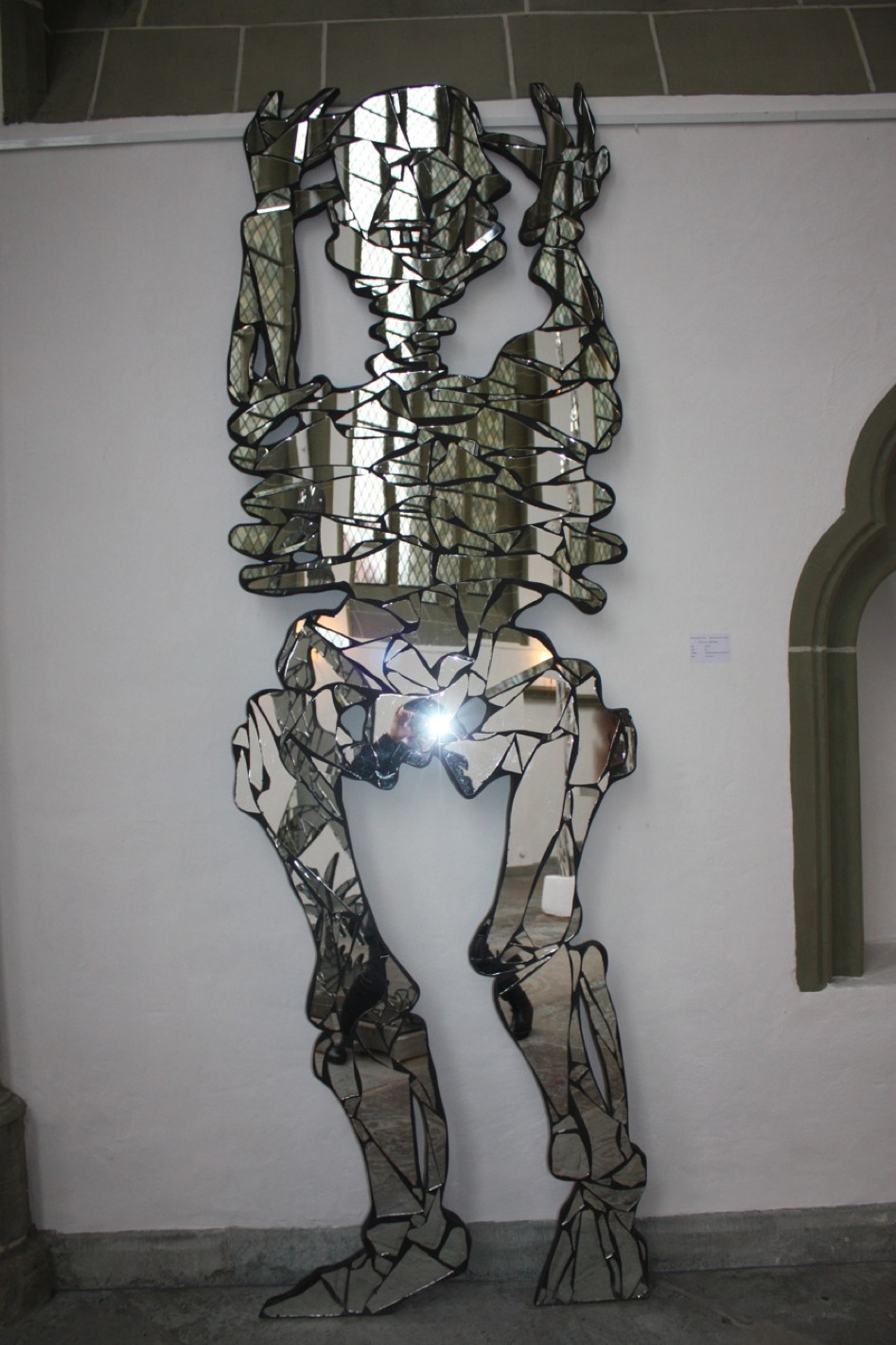 Morfeo 2013, Shattered Mirrors on wood panel, 300 x 90 x 5 cm
